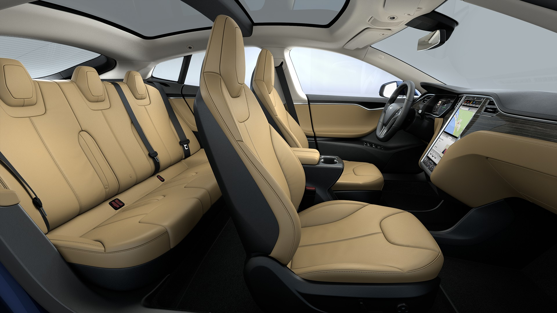 Interieur Extended Nappa Leather Trim Standard Textile Headliner