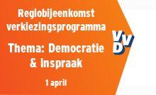 Regiobijeenkomst verkiezingsprogramma - thema Democratie & inspraak