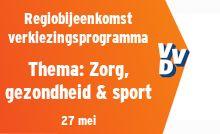 Regiobijeenkomst verkiezingsprogramma - thema Zorg, gezondheid & sport