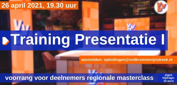 26 april 2021, 19.30 uur - Digitale training: presentatie I