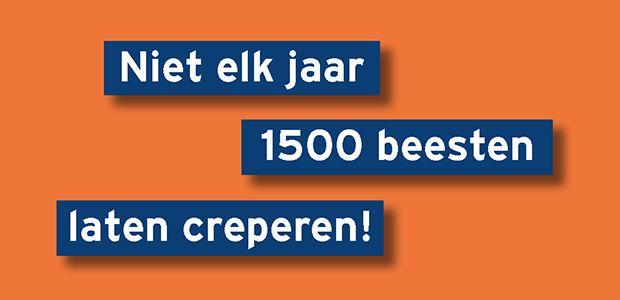 Niet elk jaar 1500 beesten laten creperen!