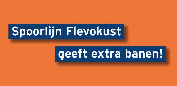 Spoorlijn Flevokust geeft extra banen!