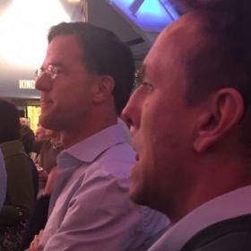 Mark Rutte en Lex Raymakers op het VVD Festival