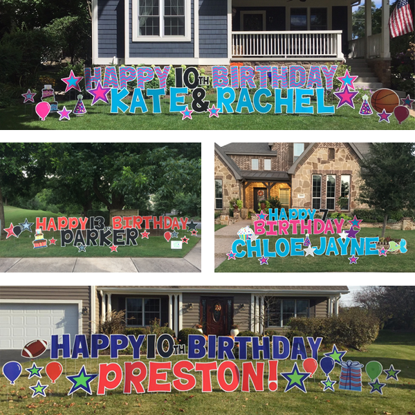 the biggest birthday card you can order send a birthday yard sign as a surprise on their special day this package includes the message happy birthday