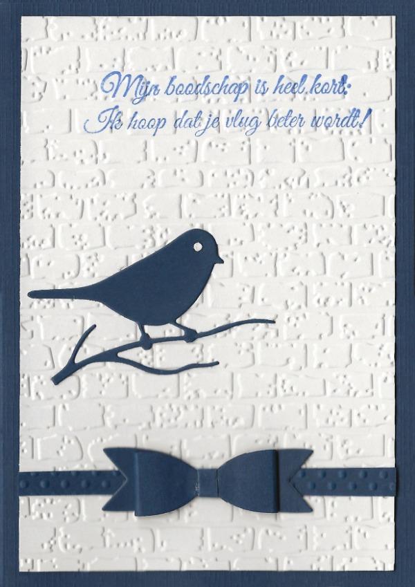 Vogeltje in 't blauw