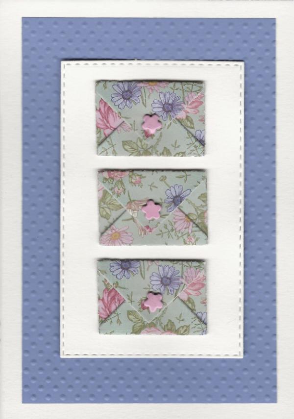 Pastel-post wilde bloemen