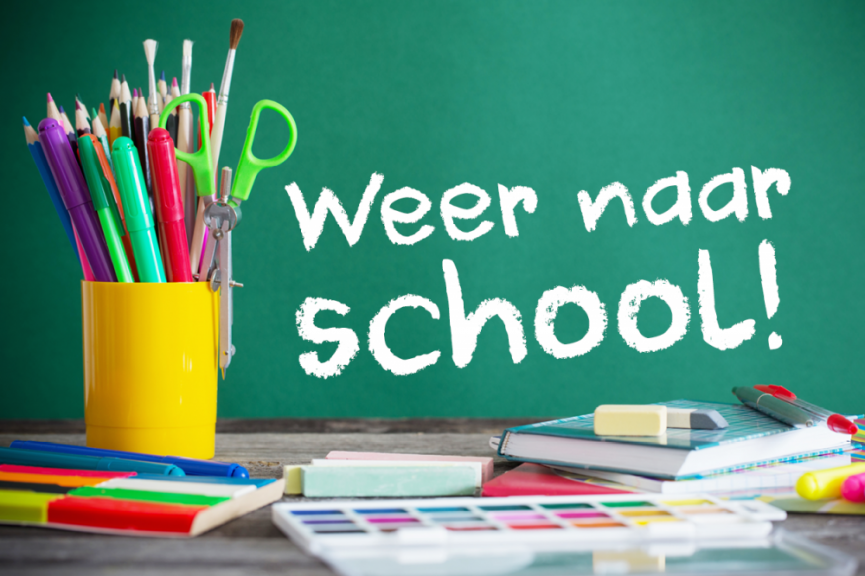weer naar school (foto)