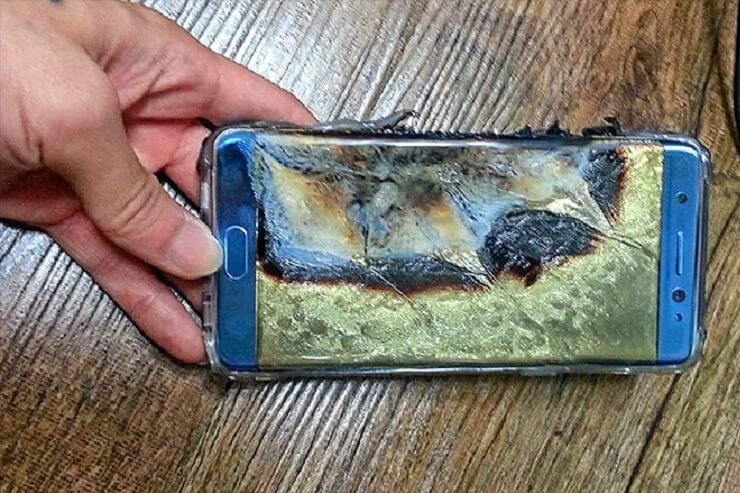 Samsung Galaxy Note 7 battery explosion