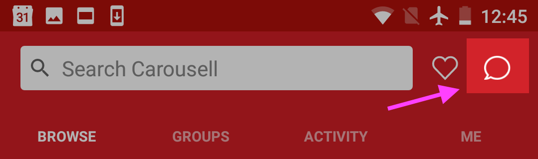 How to Buy on Carousell - Where is the Chat Inbox (Android)