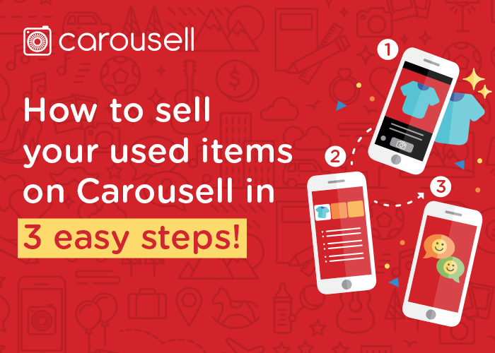 A tutorial of how to sell on Carousell in 3 easy steps