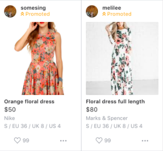 How your listing will look like after you purchase a Top Spotlight on Carousell