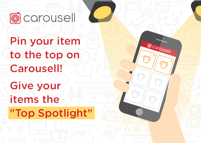 Promote your items to the top on Carousell with Top Spotlight