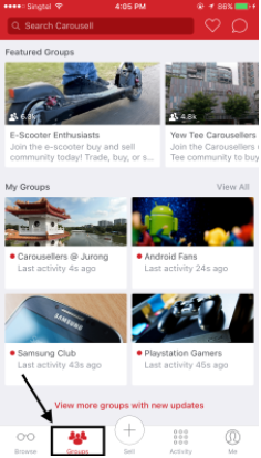 Promote listing on Carousell via groups