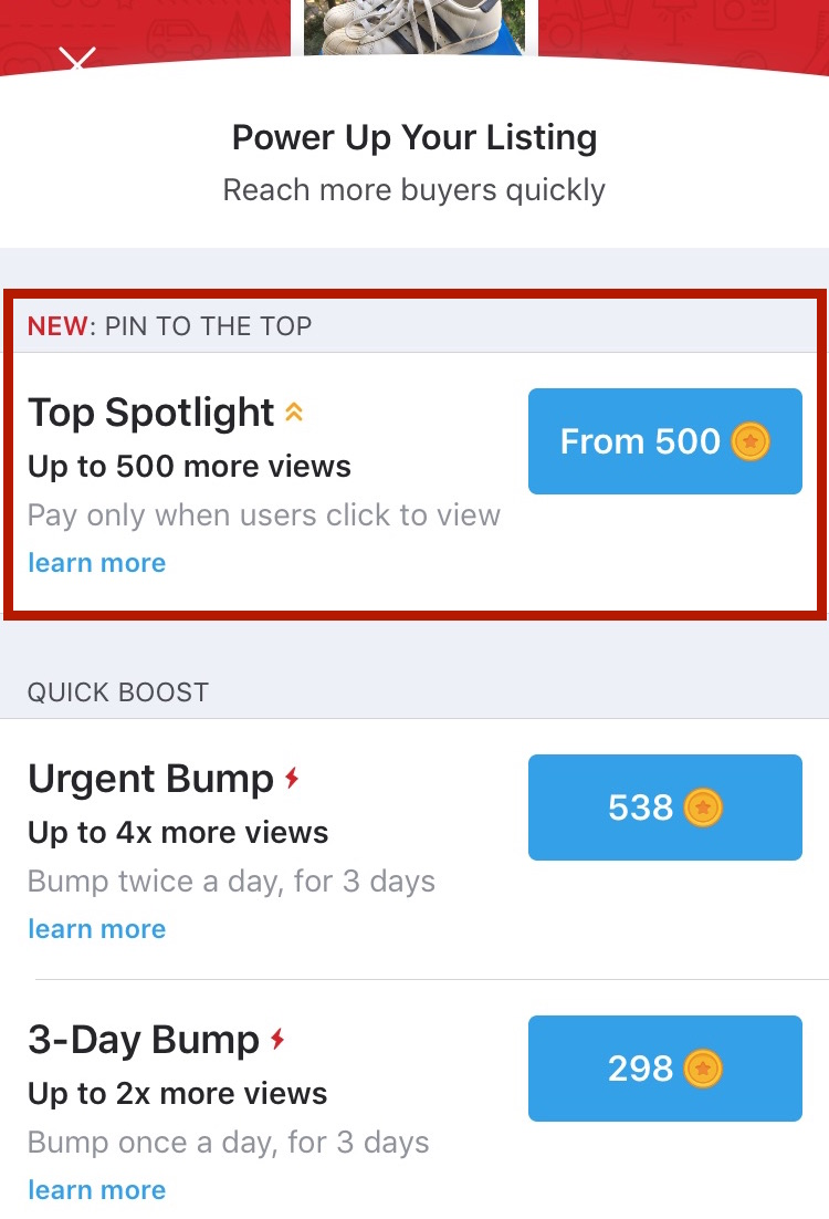Where to purchase Top Spotlight on Carousell