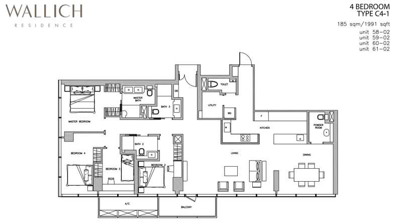 Wallich Residence 4 bedroom