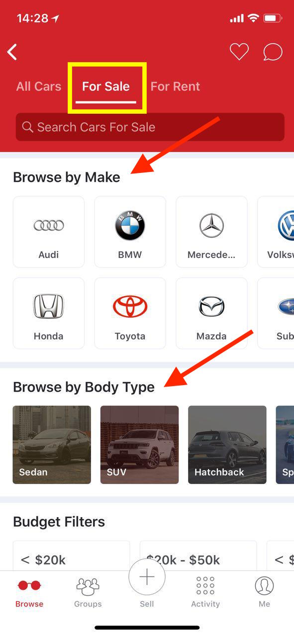 d48c41593828 Choose to browse by make or even body type! Play around with the budget  filters to find a car that you can afford!