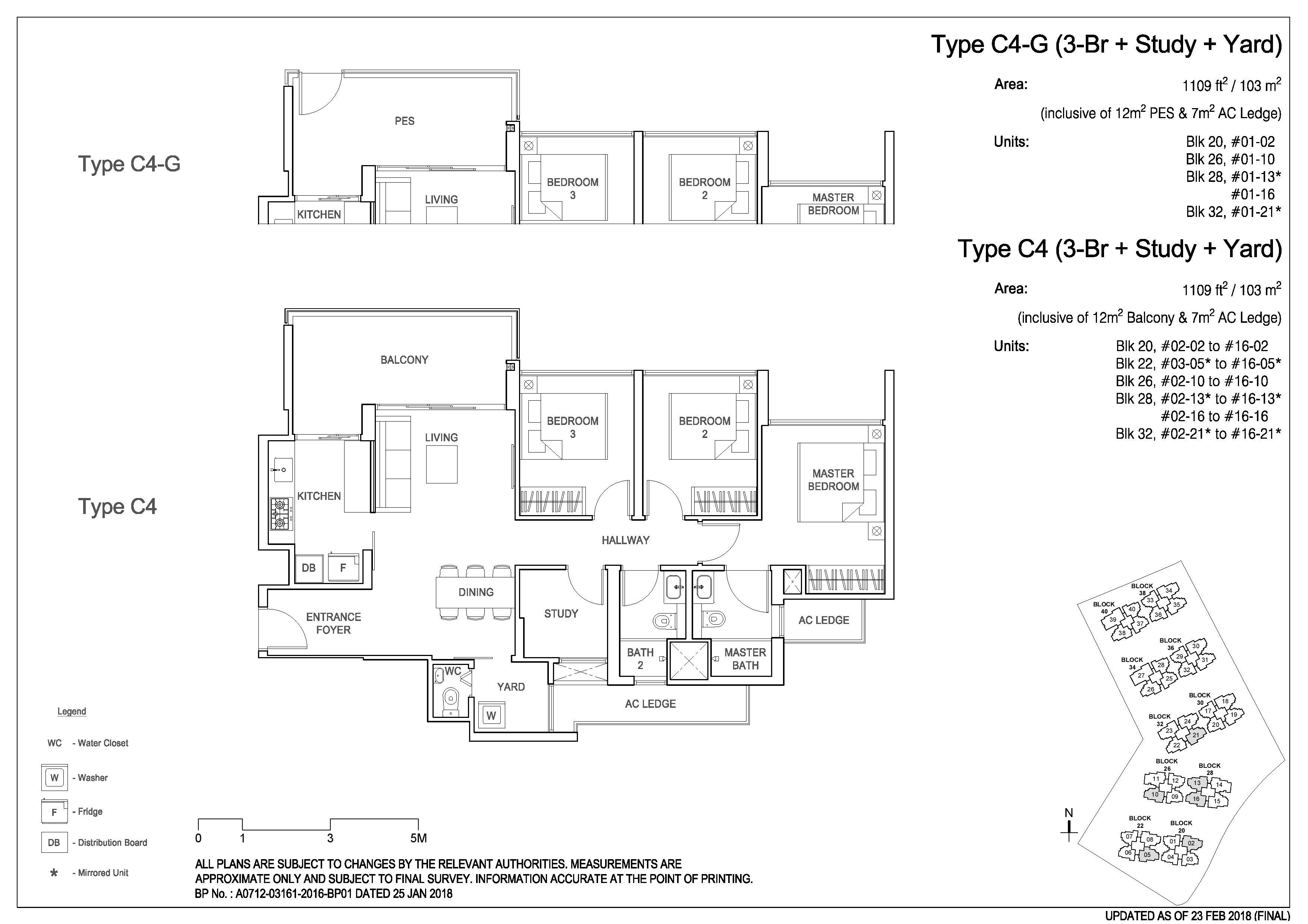 Rivercove 3 bedroom floor plan study yard