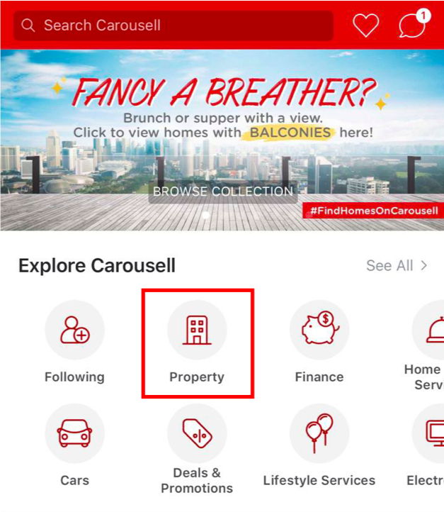 Carousell Property on Mobile