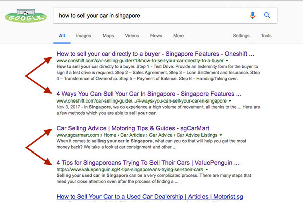 how to sell your car in Singapore