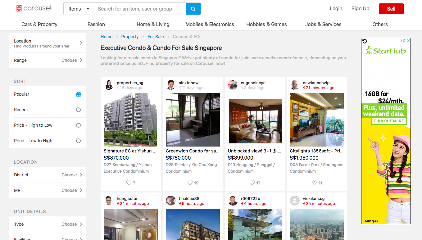 Carousell property for sale how to sell condo tips