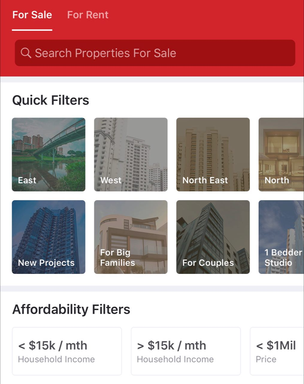 Use quick filters on Carousell to find your HDB resale flat