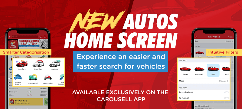 carousell autos home screen cars for sale singapore