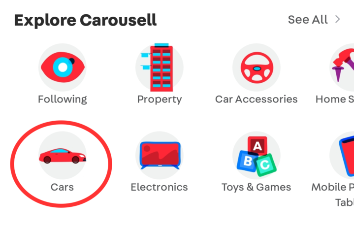new autos home screen carousell 1