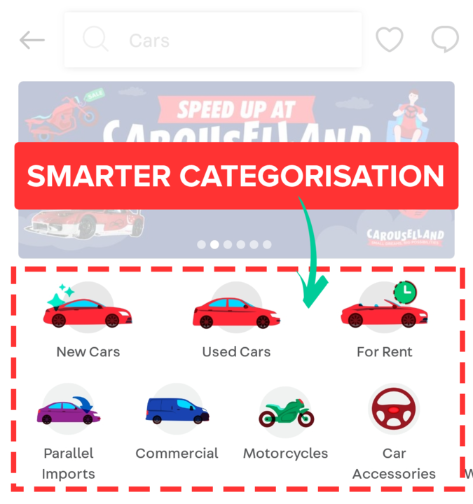 new autos home screen carousell 2