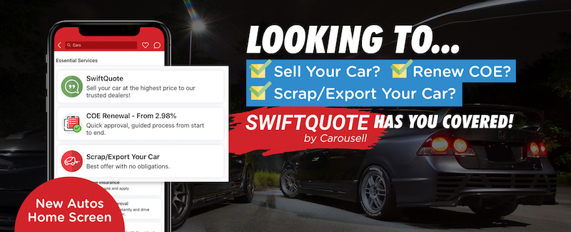 swiftquote carousell - how to sell car, how to renew car COE, how to scrap car