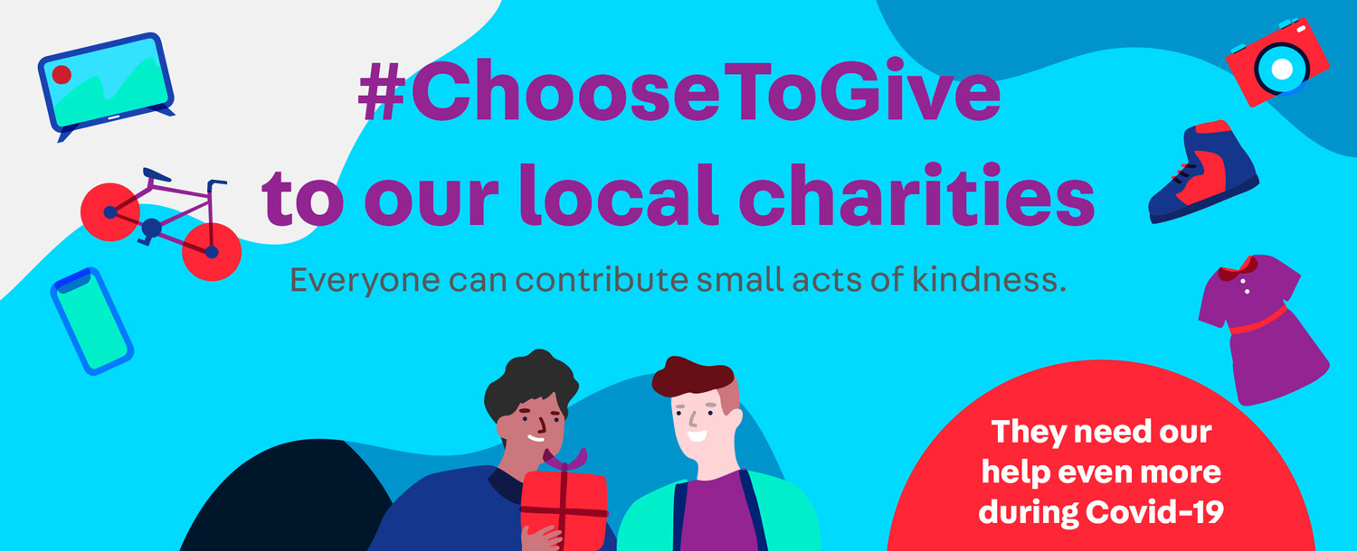 #ChooseToGive to our local charities