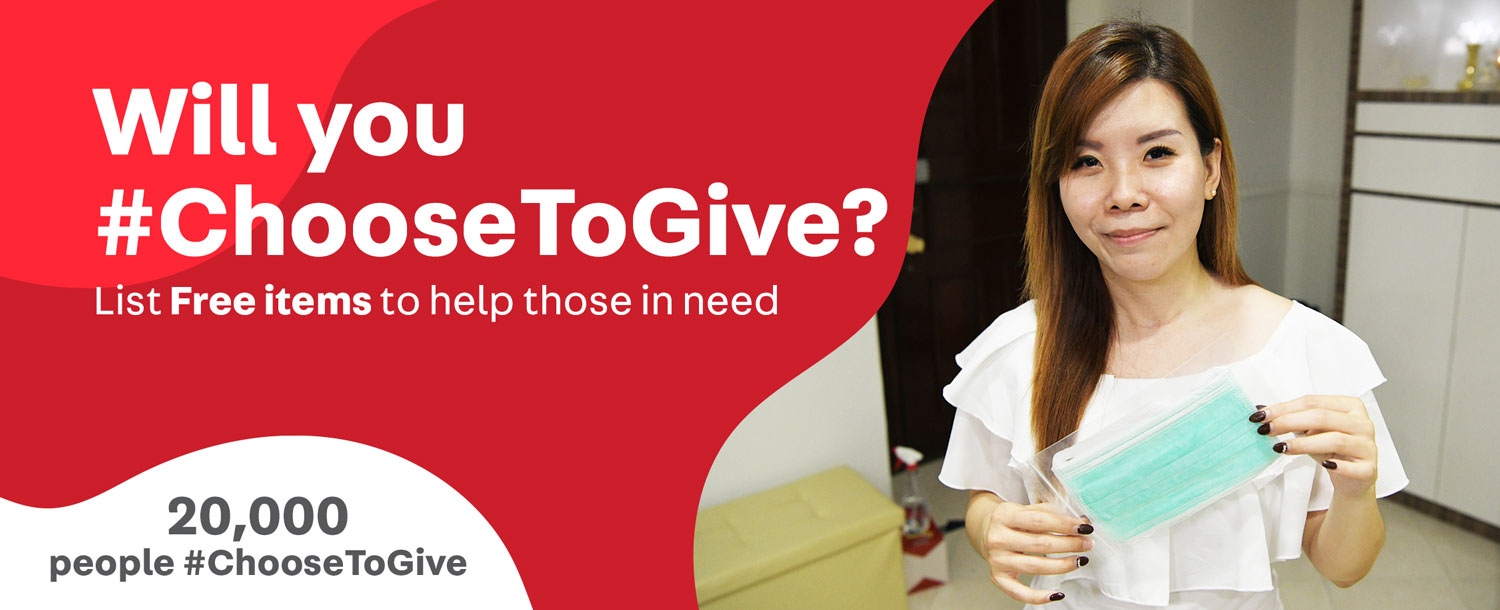 #ChooseToGive Free Items Carousell