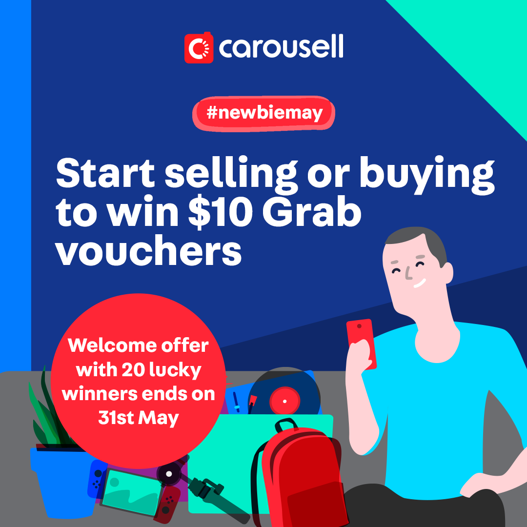 Carousell New User Campaign – win NTUC vouchers!