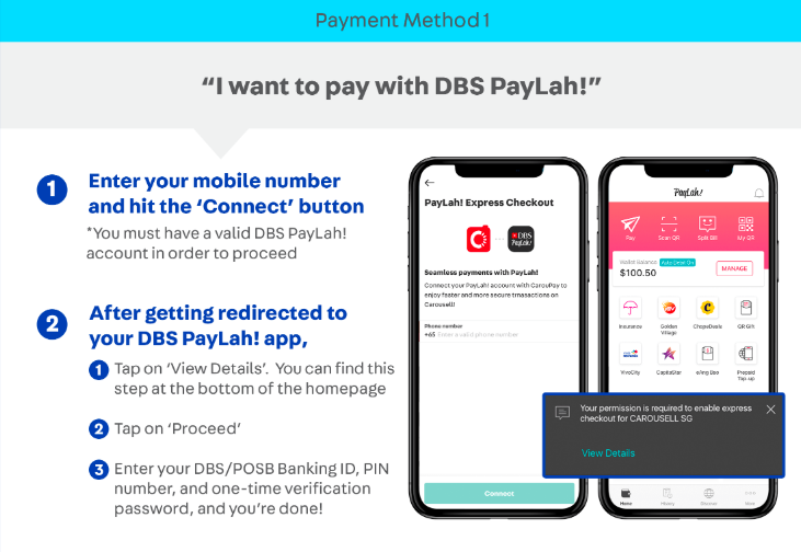 How to pay with Carousell Protection (method 1)