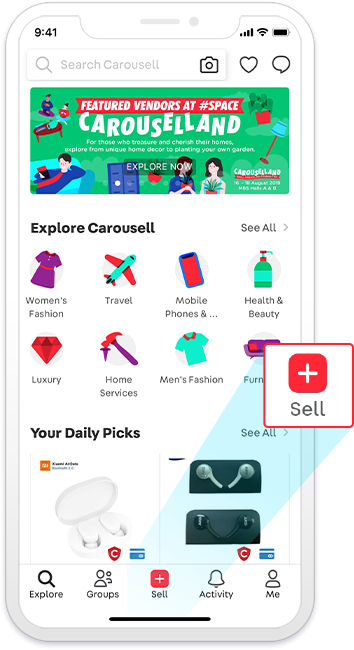 How to start selling on Carousell