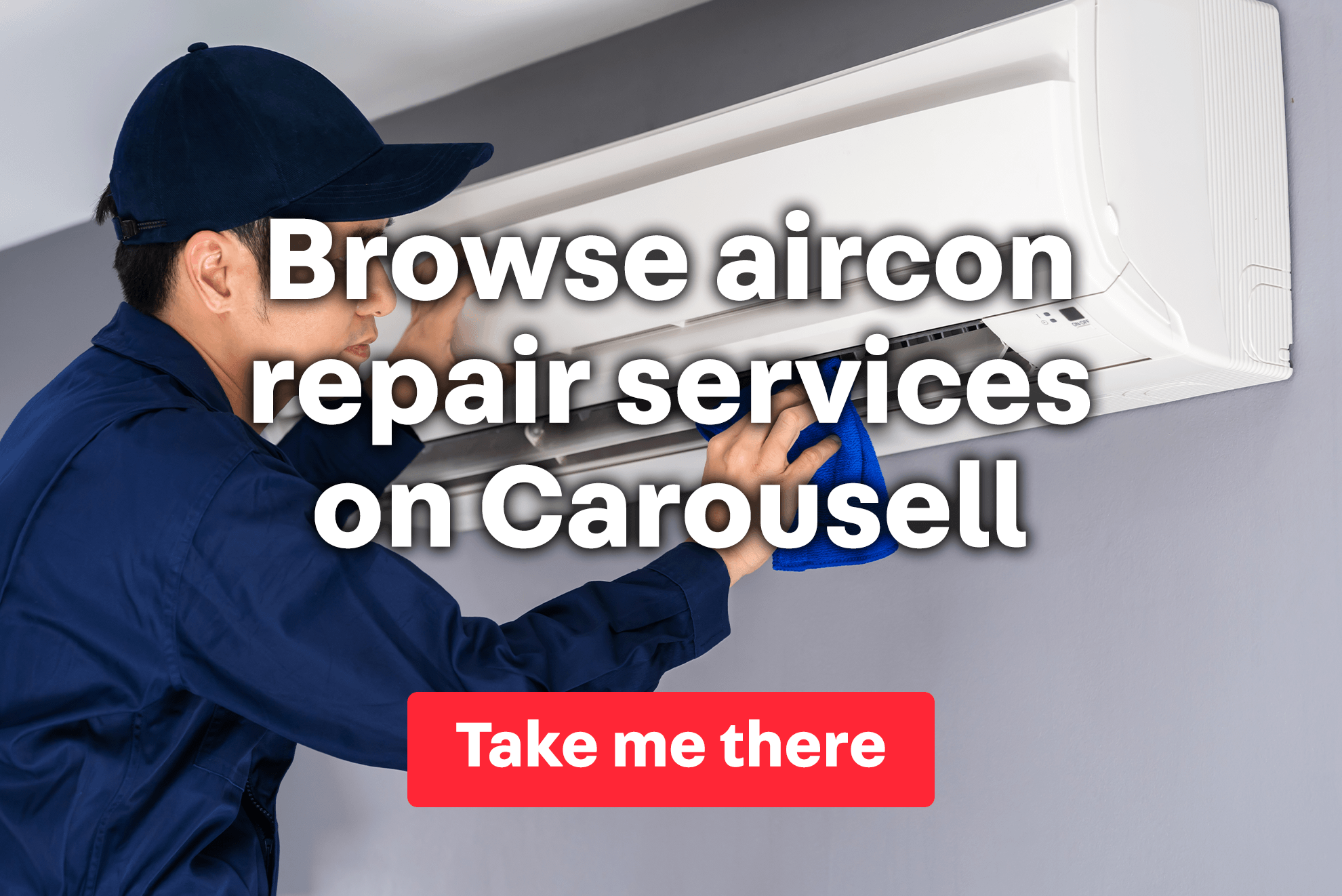 Aircon cleaning services on Carousell