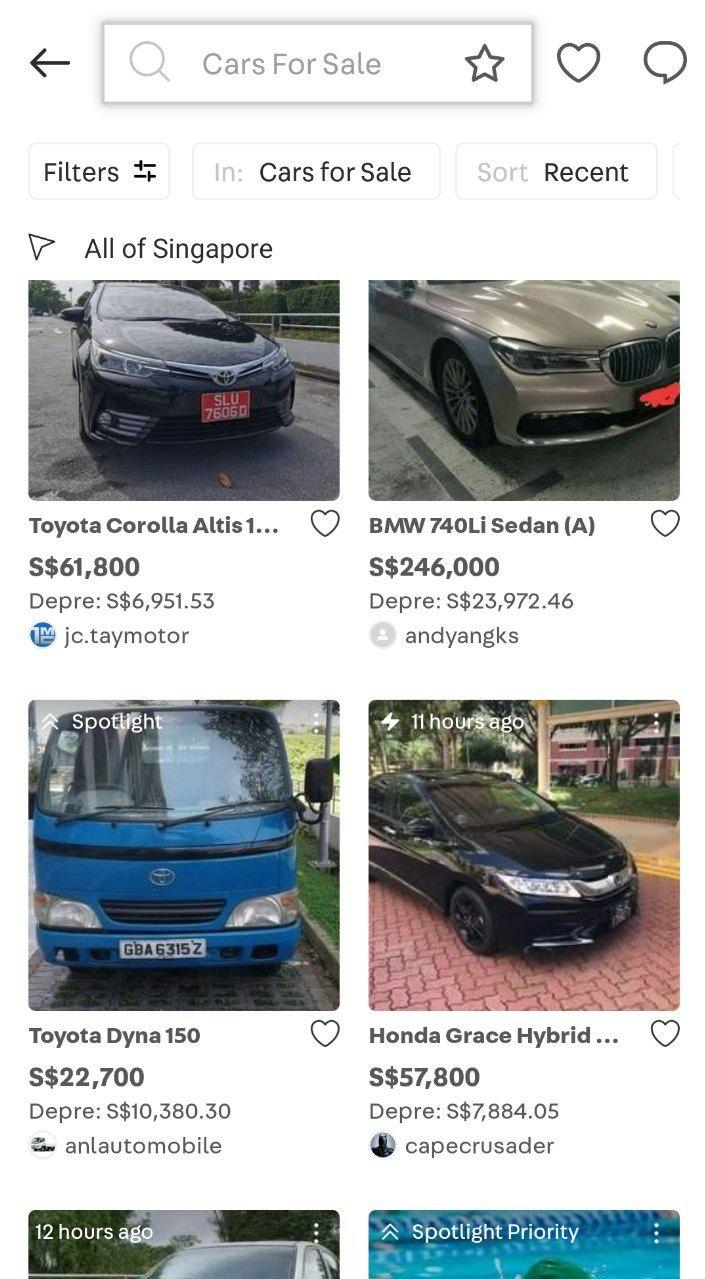 used cars for sale singapore carousell