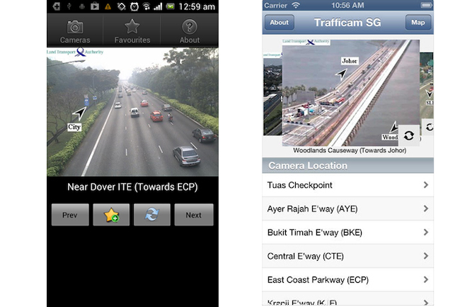 trafficam sg - best driving app singapore