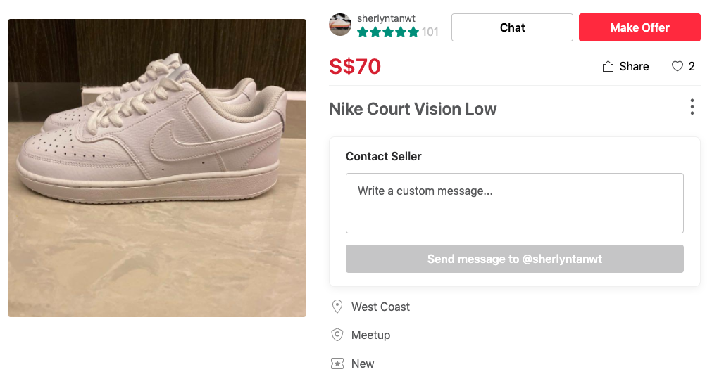 Alternative items to expensive ones that you can find on Carousell Nike Court Vision airforce 1 dupe