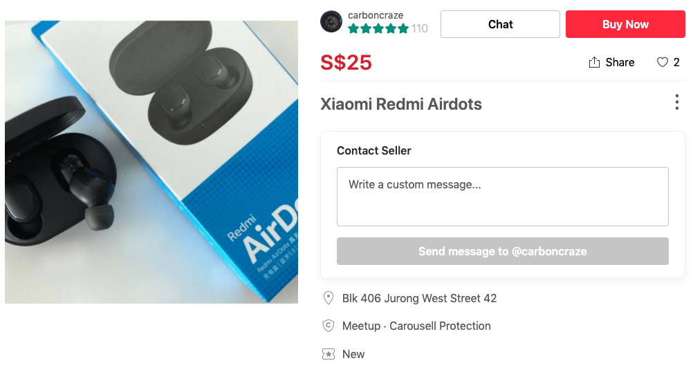 Alternative items to expensive things you can find on Carousell xiaomi airdots