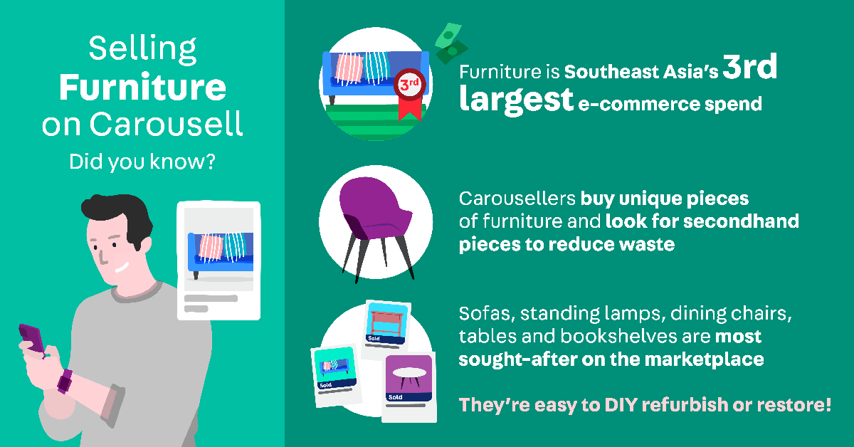 Selling furniture on Carousell tips and tricks
