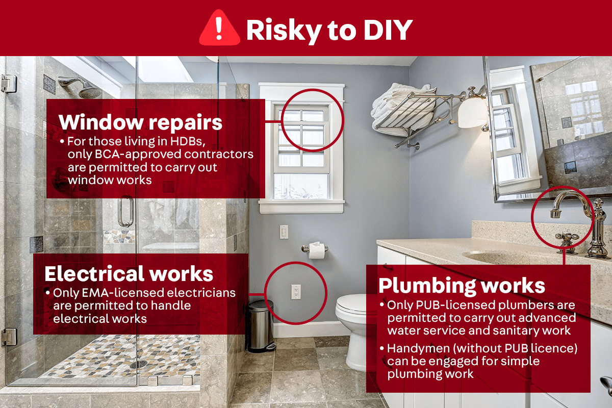 And here's what's risky to DIY