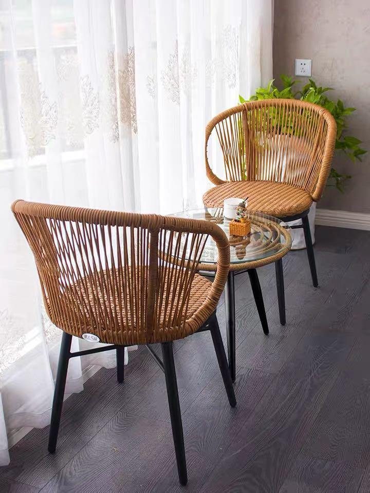 rattan outdoor dining table and chair set