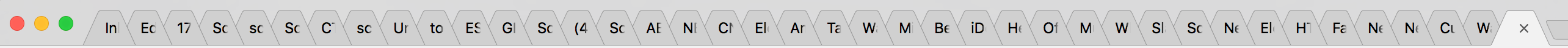 too many chrome tabs