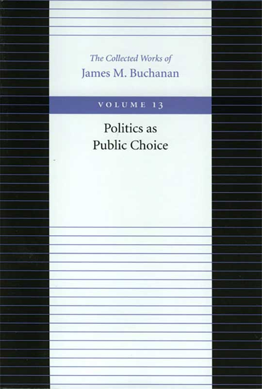 Politics as Public Choice