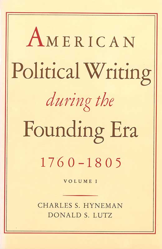 american political writing during the founding era