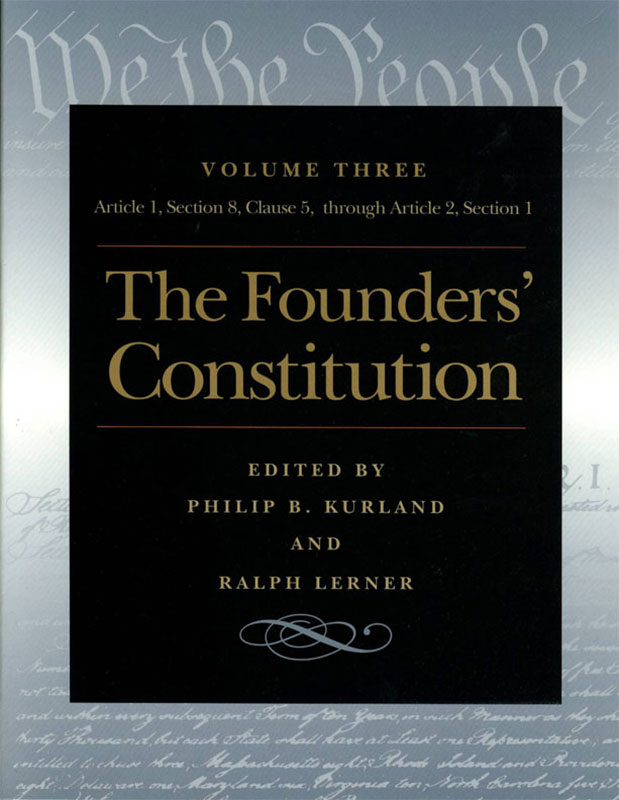 Founders Constitution The Article  Section  Clause  Through Article  Section