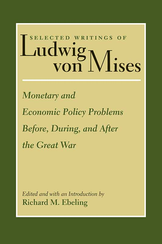 monetary and economic policy problems before during and after the great war
