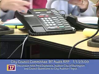 Ad Hoc Committee for the Audit RFP for Burlington Telecom   Center