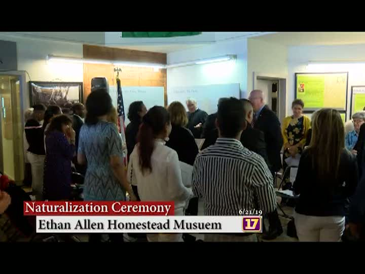 Naturalization Ceremony at the Ethan Allen Homestead 2019 | Center