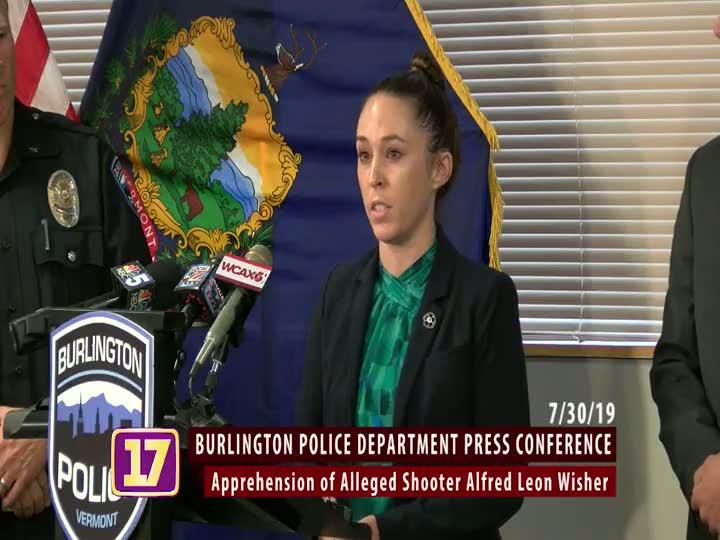 Burlington Police Department Press Conference - Apprehension of